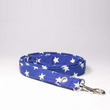 Correa Azul con estrellas caninetto