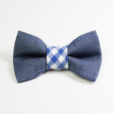 Pajarita para perros preppy azul de caninetto