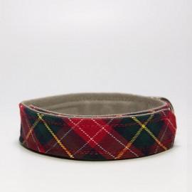 Collar para perros estampado escoces de caninetto barcelona