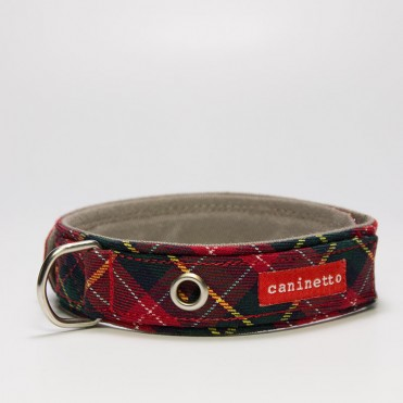 Collar para perros estampado tartan de caninetto barcelona