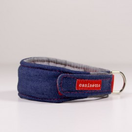 Collar para galgos Denim de caninetto barcelona