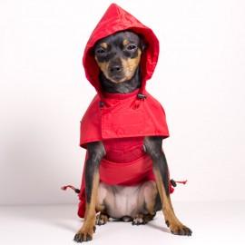 Chubasquero para perro Rojo de caninetto barcelona