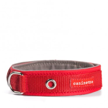 Collar Rojo de polipiel para perros de caninetto barcelona