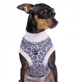 Camiseta para perros estampado leopardo azulado de caninetto barcelona