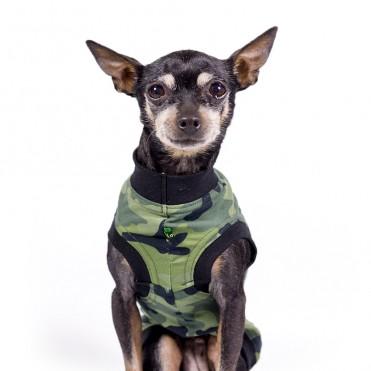 Camiseta para perros estampado Camuflaje verde de caninetto barcelona