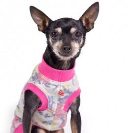 Camiseta para perros estampada con flores de caninetto barcelona
