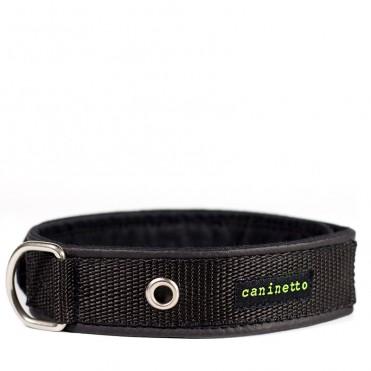 Collar de paseo Negro para perros de caninetto