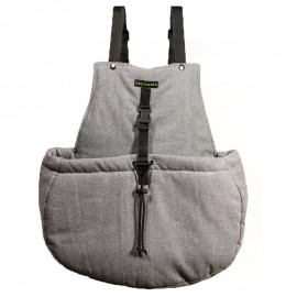 Bolso marsupial gris caninetto
