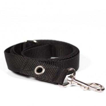 Correa de paseo para perro negra caninetto