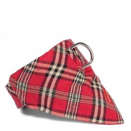 Bandana para perros estampado escoces rojo de caninetto barcelona