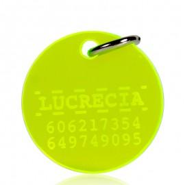 Placa identificativa circulo