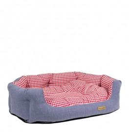 """Cama para perros estampado """"picnic rojo"""" de caninetto"""