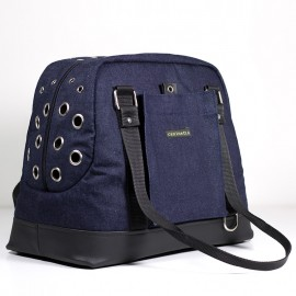 Denim Black Bolso de transporte para perros