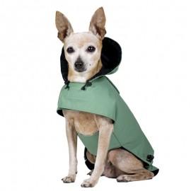 Chubasquero Verde Pimienta para perros
