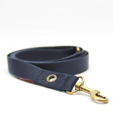 Correa para perros azul marino de caninetto