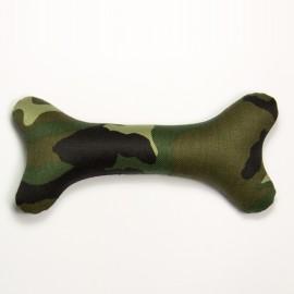 Hueso relleno camuflaje para perros